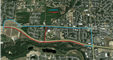 Map shows greenbelt closure on the south side of h