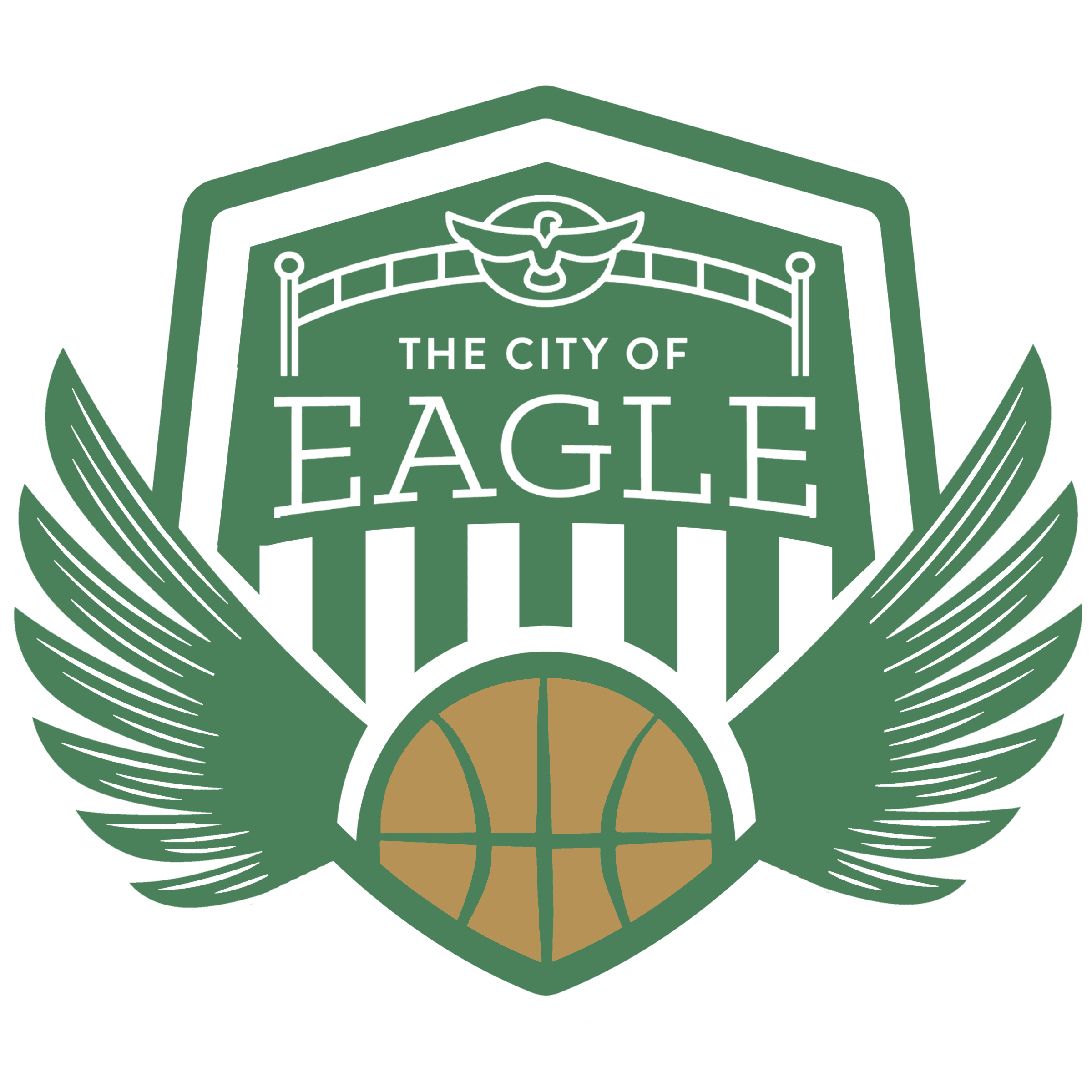 Basketball Logo with White and Ball