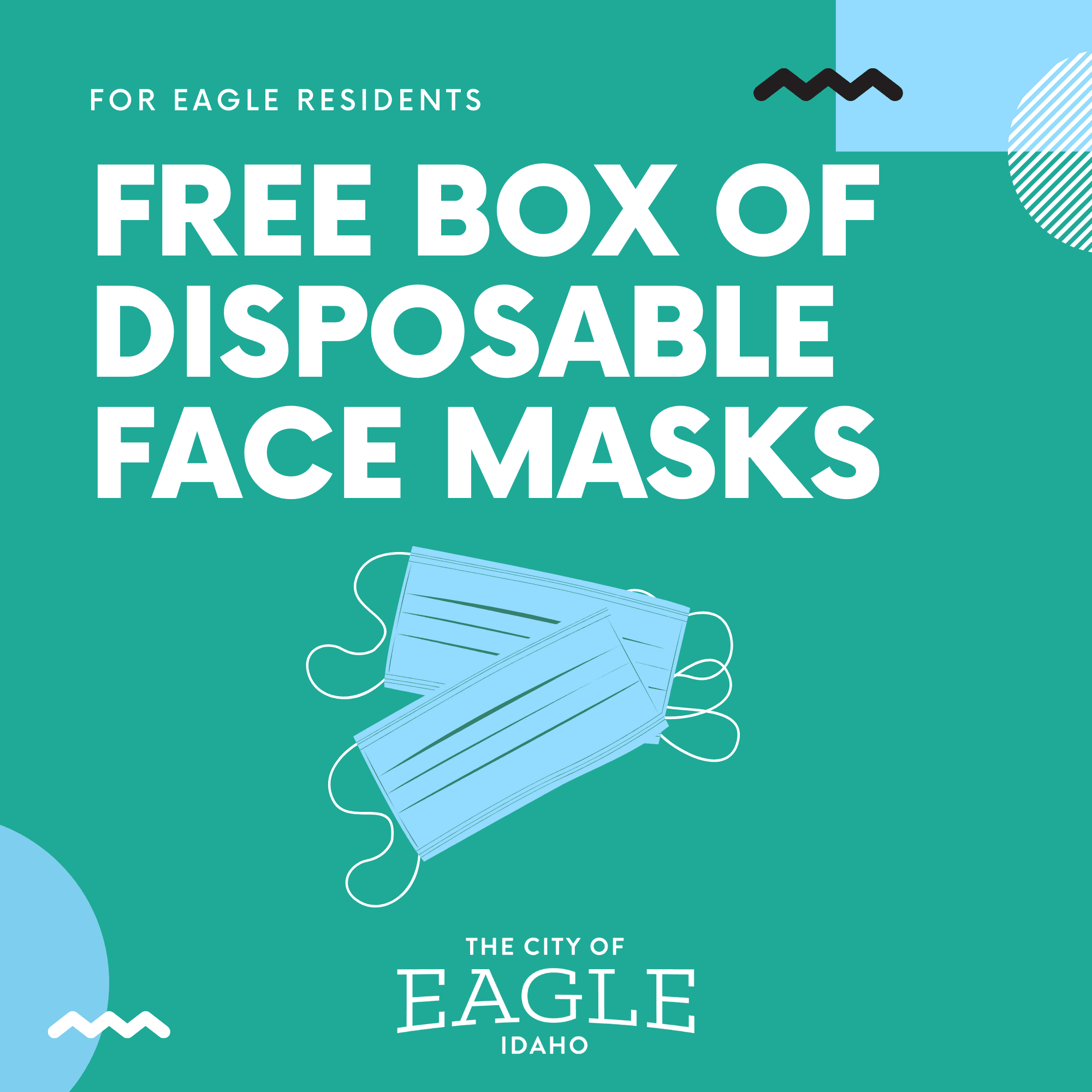 Free disposible face masks FB event