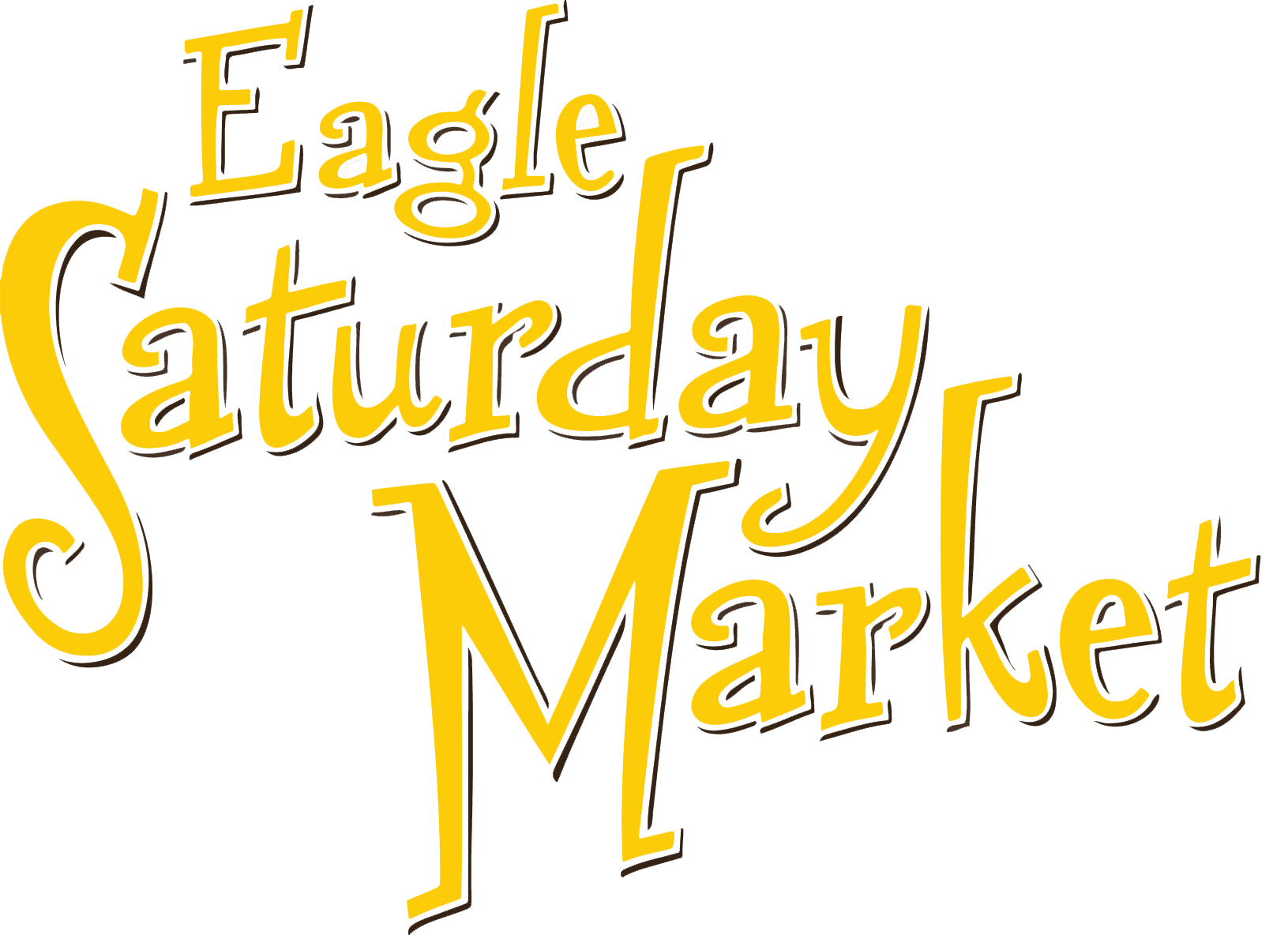 Eagle Saturday Market logo in yellow