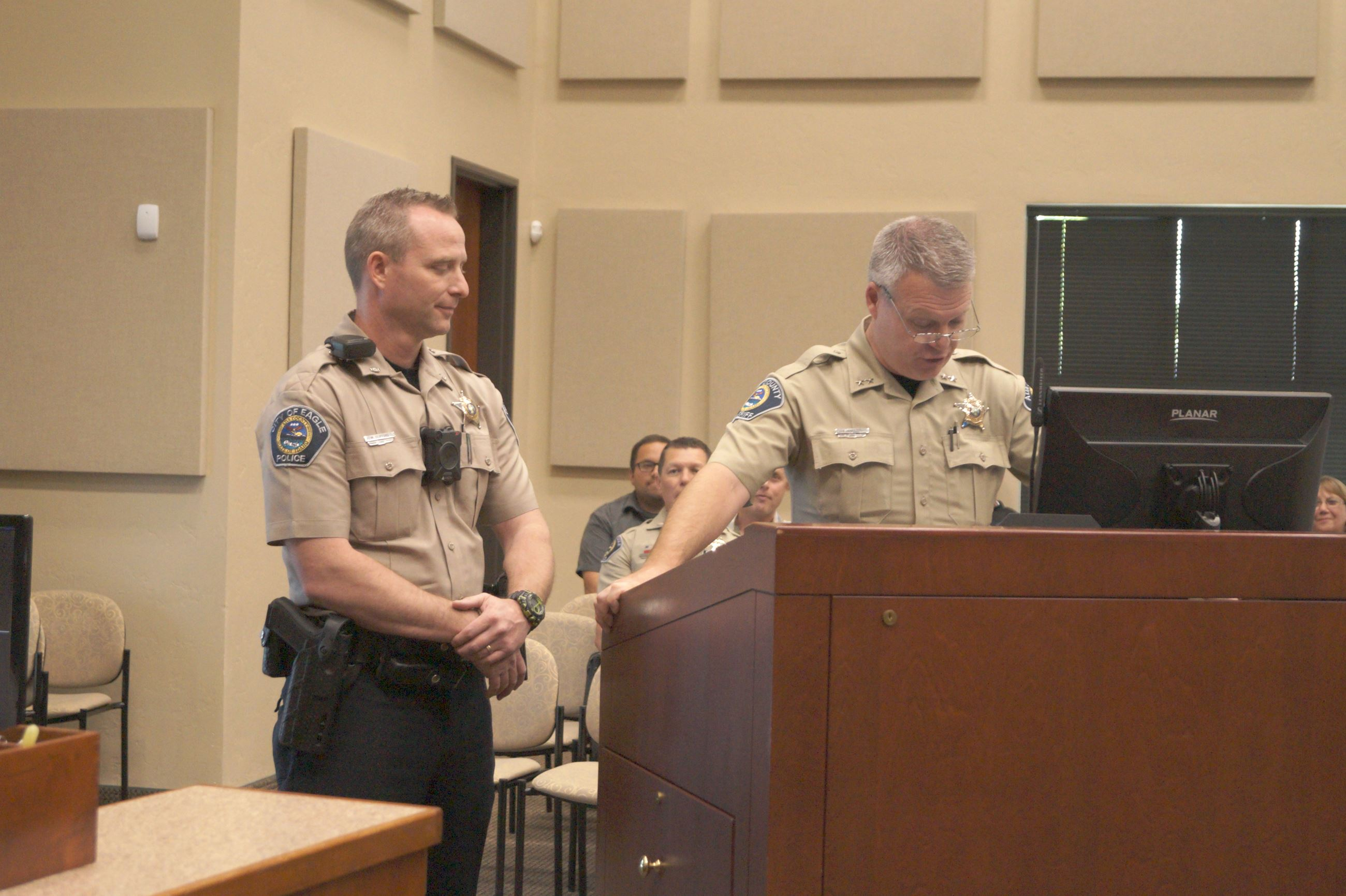 Ada County Sheriff Stephen Bartlett introduced Chief Matt Clifford to the city council