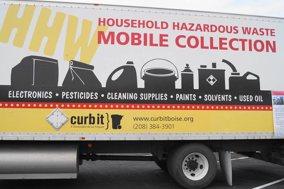 hazardous waste collection truck