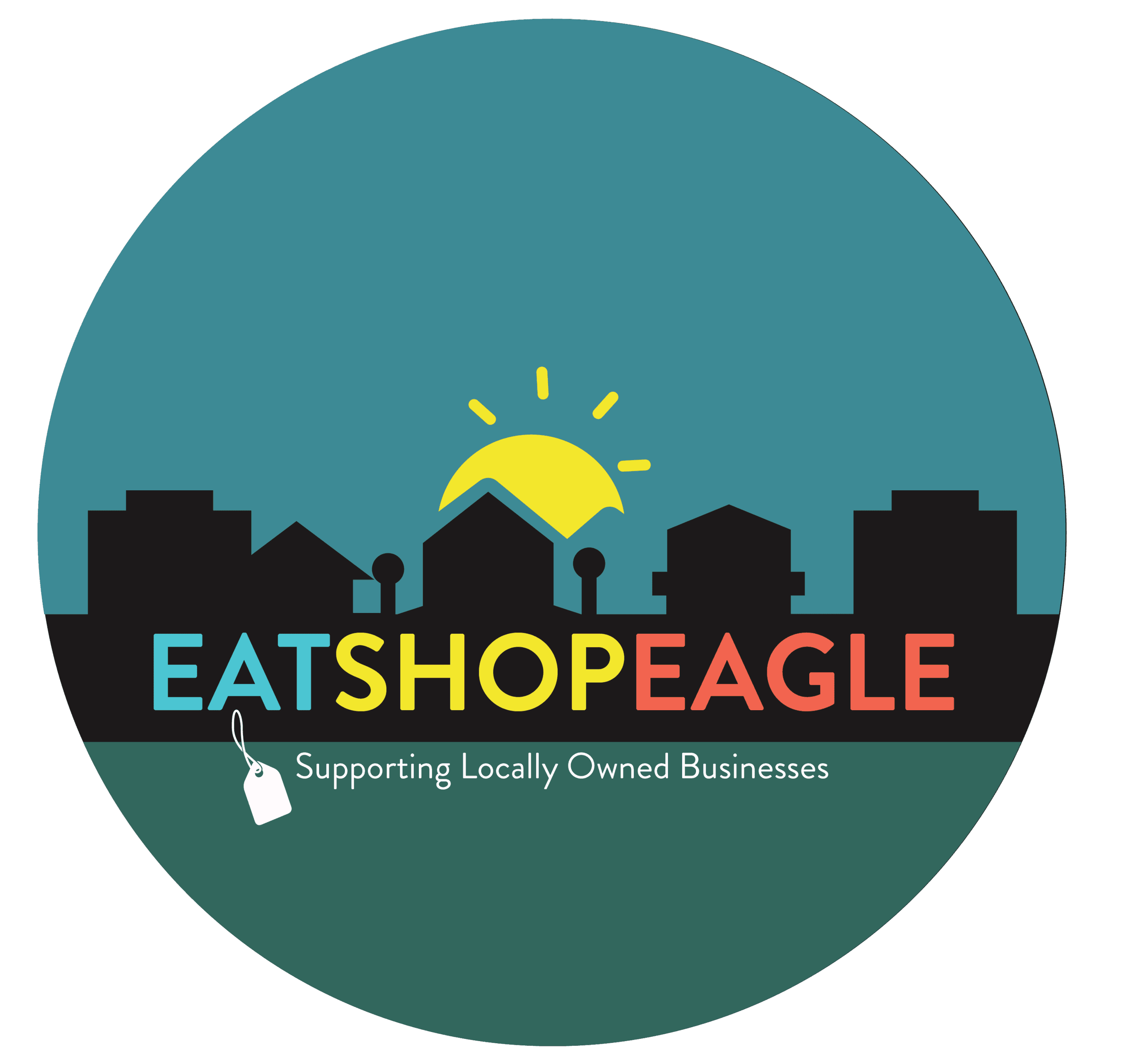 eat shop eagle logo