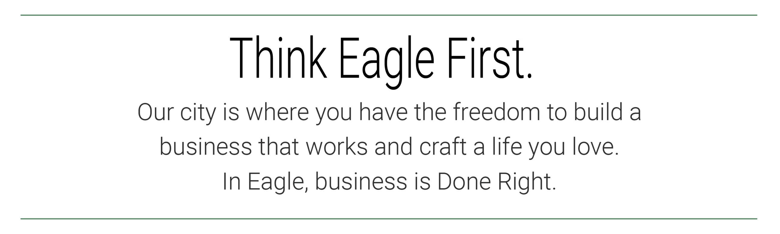 Think Eagle First